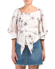 Juniors Flower Printed Top