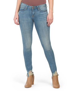 Halle Mid Rise Jeans With Destructed Hem