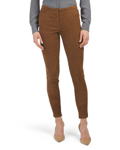 Petite Slim Leather Pants
