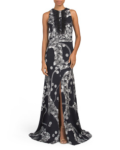Made In Italy Long Printed Gown
