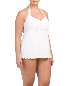 Plus Keyhole Retro One-piece Swimsuit