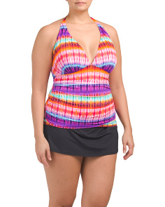 Plus Halter Tankini Set