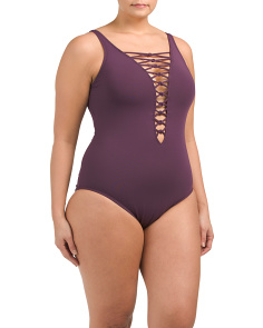 Plus Oh So Knotty One-piece Swimsuit