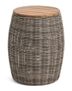 Indoor Outdoor Small Wicker Accent Table