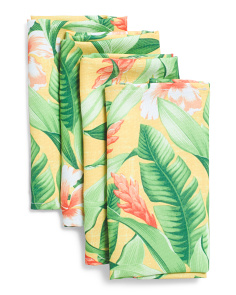 Set Of 4 Freeport Tropical Napkins