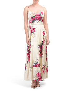 Petite Floral Sleeveless Maxi Dress