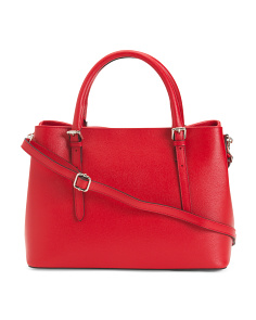 Made In Italy Leather Saffiano Tote