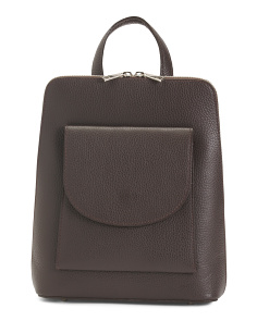 Made In Italy Leather Slim Backpack