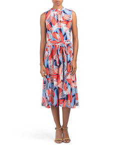 Made In Usa Mindy Shirred Midi Dress