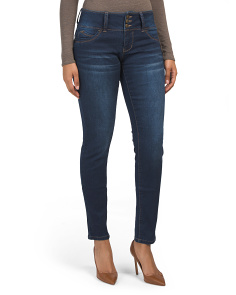 3 Button Skinny Jeans