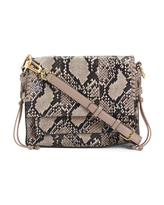 Snake Pattern Leather Shoulder Bag