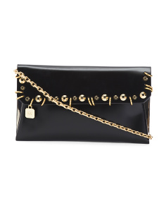Shiny Calf Leather Shoulder Bag