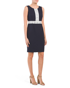 Textured Pique Knit Sheath Dress