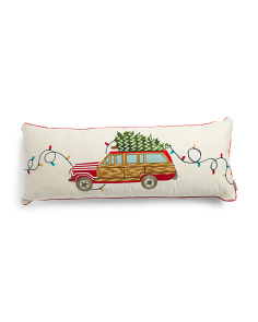 Made In India 14x36 Vintage Car Pillow