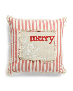 Made In India 20x20 Merry Stripe Pillow