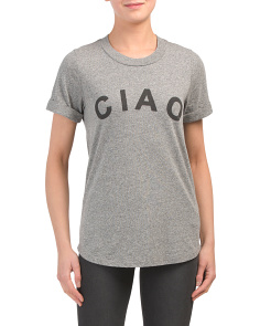 Made In Usa Ciao Rolled Sleeve Top