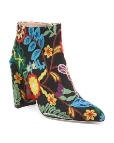 Made In Spain Embroidered Booties