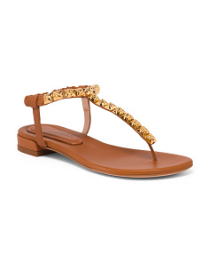 Made In Spain Flat Leather Sandals
