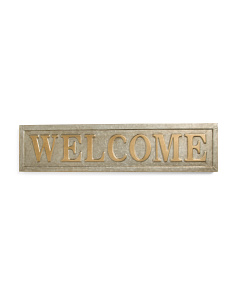 Welcome Wall Metal Sign