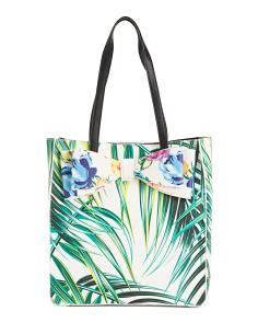 Palm Floral Tote