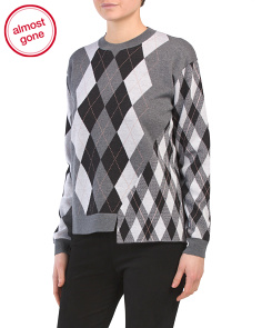 Made In Italy Argyle Wool Sweater