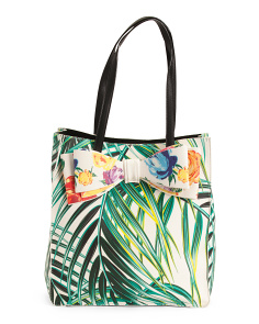 Floral Palm Tote