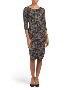 Floral Intarsia Midi Sweater Dress