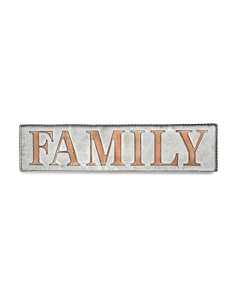 Metal Family Wall Sign