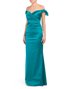 Stretch Satin Gown
