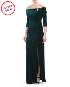 Stretch Velvet Gown