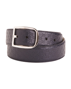 Made In Italy Gg Leather Belt