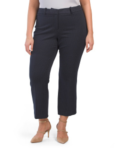 Plus Pinstripe Cropped Pants