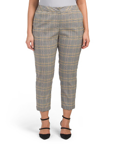 Plus Menswear Plaid Tapered Pants