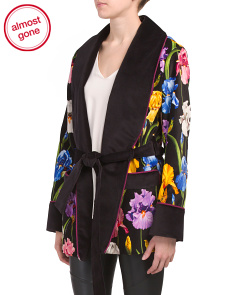 Made In Italy Blaze Velvet Botanical Jacket