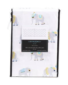 Elephant Summer Pillowcase Set