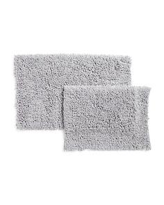 2pc Set Of Chenille Bath Rugs