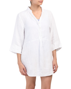 Made In Italy Linen Cover-up
