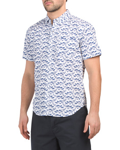 Short Sleeve Whale Print Shirt