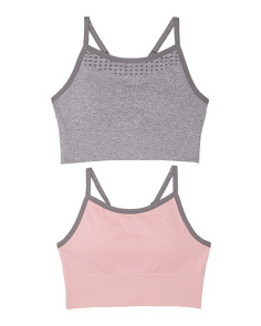 2pk Seamless Sports Bras