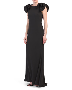 Bow Shoulder Gown