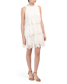 Pinwheel Eyelet Lace Dress