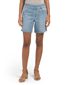 Pull On Shorts With Side Slits