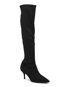 Kitten Heel Knee High Dress Boots