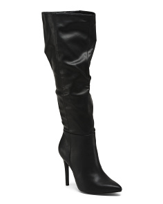 Pointy Toe Stiletto Heel Knee High Boots