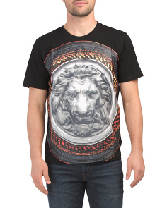 3d Lion Shield Crew Neck Tee