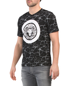 Short Sleeve Lion Graphic Top