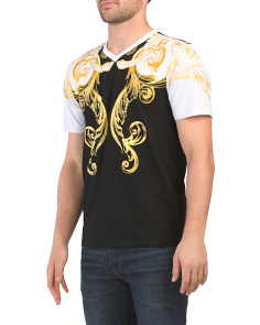 Short Sleeve Foil Baroque Tee