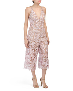 Made In Usa Marion Lace Jumpsuit