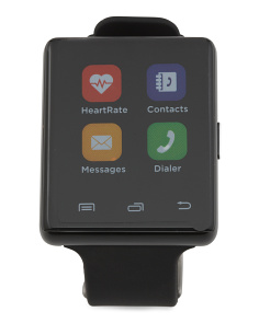 Air 2 Smartwatch With Heart Rate Monitor And Silicone Strap
