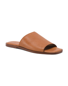 Made In Italy Hooded Leather Slide Sandals